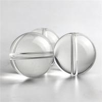 pyrex glasperlen großhandel-Neue Glas-Carb-Kappe OD 25 mm Glasperlen Dickes Pyrex-Glas im Kugelstil für XL-Quarz-Banger mit flacher Oberseite