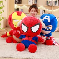Wholesale plush spiderman for sale - The Avengers Iron Man Spiderman America Captain Plush Doll Stuffed Soft Animated Toy Kids Collections Plush Avengers Toy cm