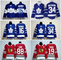 Wholesale cotton suppliers - Hockey Jerseys Maple Leafs #34 Auston Matthews 16 Mitch Marner #19 Toews Oilers #97 Connor McDavid Jersey Wholesale 2017 New Supplier Style