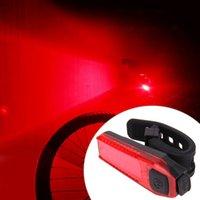 ingrosso usb della coda della bici-Luce posteriore della bicicletta della bici Luce posteriore della bicicletta della luce di guida Luce posteriore della luce esterna dello zaino USB della luce di guida LED