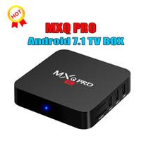 lecteur multimédia pour pc achat en gros de-1 PCS! RK3229 MXQ PRO 4K Android Smart Boxes Ultime HD Android7.1 OTT Boîte Quad Core 1g 8g 2.0 GHz Matériel IPTV Media Player