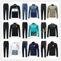 Wholesale france soccer jacket - Real Madrid soccer jacket tracksuit 2018 2019 France football jackets kits mens 17 18 19 chandal DYBALA HAZARD tracksuit juv Sweatshirt