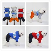 Wholesale wedding costume male for sale - Euramerican pet dog costume autumn winter thick dog clothes warm dogs apparel high quality cotton padded clothes coat S XXL