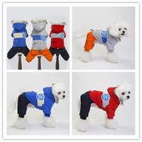 xxl köpek kürkü kış toptan satış-Euramerican pet köpek kostüm sonbahar kış kalın köpek giysileri sıcak köpekler giyim yüksek kaliteli pamuk-yastıklı giysi ceket S-XXL