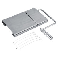 Wholesale making desserts - Cheese Slicer Butter Cutting Board Durable Bakeware Wire Making Dessert Blade Kitchen Cooking Serving Baking Tools