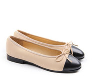 Wholesale simple ladies flat shoes - Women ballet flats top quality noble elegant luxury sexy Genuine Leather classic cute simple ladies party casual shoes