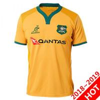 Wholesale australian shirt for sale - 2018 AUSTRALIA WALLABIES JERSEY rugby Jerseys NRL National Rugby League shirt Australian wallabies shirts s xl