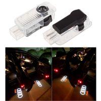 ingrosso logo audi q5-Il trasporto libero 2 pz / set auto led porta luce benvenuto ombra laser led proiettore logo per audi Q3 Q5 Q7 A3 A4L A6L A7