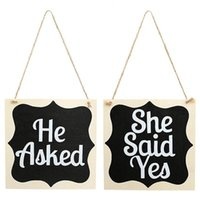 bordseil groihandel-Wooden Ceremony Supplies Supplies Dreharbeiten Props Dekoration Arts Crafts Geschenke Hanging Plate Board Seil Er fragte sie sagte ja 16jm ff