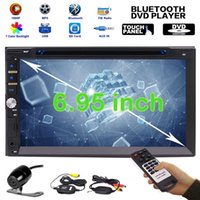 "Wholesale electronic tuners - Upgarde Version 6.95"" Double 2 DIN Electronics pc Car DVD CD 1080p Video Player Bluetooth Digital Touch Screen Car Stereo Radio HeadUnit"