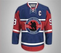 Wholesale Factory St - Factory Outlet,AHL Winnipeg St. John's IceCaps #40 Gabriel Dumont, Blank,custom,personlized any name & no.1916-2016 blue hockey jerseys
