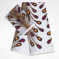 ingrosso cortile in chiffon di seta-tessuto africano ankara per patchwork tessuto chiffon di seta morbido couture matéel pizzo voile di alta qualità 4 + 2 yard / lot YBG-52