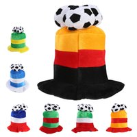 Wholesale world cup hats for sale - Group buy Football Cap Soccer Hat Flannel Headwear Costume Party Dress up for World Cup Football Fan Cheering LJJN2