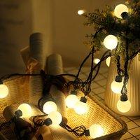 nuevas luces decorativas festival al por mayor-5M 50LED Small Ball LED String Lights Iluminación de vacaciones para Año Nuevo Navidad Outdoor Garland Festival Lámparas decorativas de luz de hadas
