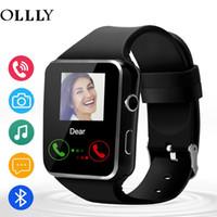 x6 toque al por mayor-Nuevo X6 Smart Watch con cámara Pantalla táctil Soporte SIM TF Tarjeta Bluetooth hombres Smartwatch para iPhone Xiaomi Teléfono Android
