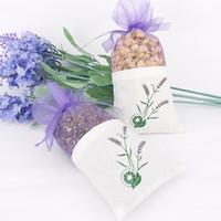 Wholesale Cotton Paper Flowers - DIY Dried Flower Sweet Bursa Packing Bag Car Pendant Cotton Organza Lavender Sachet Bags 0 89xs C R