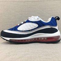 en iyi çalışan tenis ayakkabıları toptan satış-Marka Yeni 98 s Erkek Spor Ayakkabı 98 Koşu Ayakkabı Kırmızı Mavi Erkekler Sneakers En Atletik Yürüyüş Tenis Ayakkabıları Adam Eğitim Sneakers