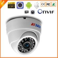 caméras grand angle achat en gros de-BESDER Caméra IP grand angle 2.8mm Audio sans fil 1080P Dôme de sécurité intérieur Caméra IP Wi-Fi avec fente pour carte SD ONVIF RTSP FTP