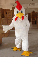 Wholesale Chicken Mascot Costumes - 2018 Discount factory sale professional Make Adult Size White Chicken mascot Costume WholeSale price Cock mascot.