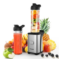 Wholesale smoothie cups - Homgeekeu Mini Fruit Vegetable Juice Extractor Personal Smoothie Blender Detachable Food Processor 2 Bpa -Free Travel Sport Cup