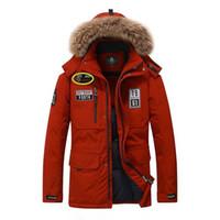 куртка с воротником оптовых-M~3XL Plus Size 2018 Autumn Winter Straight Men White Duck Down Jackets And Coat Fake Fur Collar Casual -Clothes ZDJP