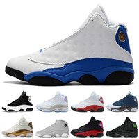 Wholesale mens basketball shoes low - 13 13s mens basketball shoes 3M GS Hyper Royal Italy Blue Bordeaux Flints Chicago Bred DMP Wheat Olive Ivory Black Cat Men sports sneakers