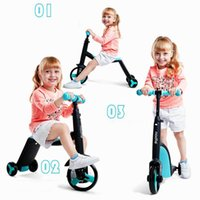 Wholesale Baby Tricycles - New Baby Stroller 3 in 1 Baby Scooter Kids Balance Car Baby Multifunction Tricycle Chidren Skater Carriage Free Shipping