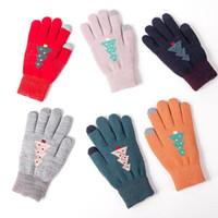 модные рукавицы оптовых-mrwonder зимние женские перчатки жаккардовые трикотажные сенсорный экран перчатки милый маленький дерево тепловой