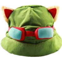 guantes sexy hombres al por mayor-Envío gratuito de la venta caliente The Swift Scout Temo Hat Héroe en torno a Cospaly Sombrero Juegos Verde Temo TMO Sombreros The Swift Scout Cap ENVÍO GRATIS