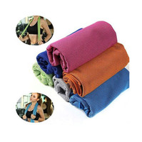 Wholesale Towels Packing - 100*30cm OPP Pack Ice Towel Sports Gym Jogging Enduring Running Instant Ice Cold Chilly Pad Cooling Towel GGA159 100PCS