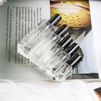siyah parfüm şişeleri toptan satış-5 ml 10 ml 20 ml 30 ml Şeffaf Ince Cam Sprey Şişe Örnek Cam Şişeler Taşınabilir Mini Parfüm Atomizer Altın Gümüş siyah Kap