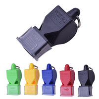 Wholesale 1Pcs Whistle Plastic Fox Soccer Football Basketball Hockey Baseball Sports Referee Whistle Survival Outdoor Like