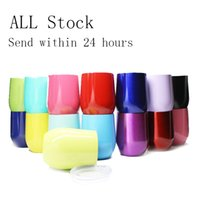 Wholesale Rising Stocks - Retail Egg Cups with Lids Mug 304 Wine Stainless Steel Mugs Double Wall Vacuum Bottles Beer Rose Gold Thermos