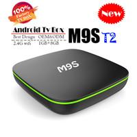 caja de tv tx2 al por mayor-Original M9S T2 Android TV Box Allwinner H3 Quad Core 1GB 8GB 4K H.265 1080P Video Streaming Android TV Boxes Mejor TX2 TX3 TX9 H96 X96 X92