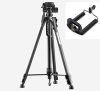 Wholesale photo camera stand resale online - Photo Tripod stand for Camera Camcorder WF Black tripod tripe extensor para foto with handle head Bag Phone Holder