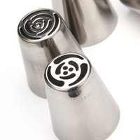 Wholesale piping tools for baking resale online - 7pcs DIY Stainless Steel Buttercream Icing Piping Nozzles Baking Tools Ideal for baking cream cake cup cake and cookie etc