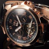 esqueleto de relógio de pulso venda por atacado-JARAGAR Relógio Dos Homens Do Esporte Relógios Casuais Exército Mens Relógio De Luxo Automático Mecânico Esqueleto De Pulso Relógio De Pulso