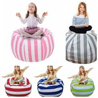 Wholesale Canvas Garage - Kids Stuffed Animal Storage Bean Bag 18inch Cotton Canvas Organizer Box Organization Sack Chair Portable Clothes Storage 30pcs OOA4637