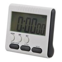 cronômetro de 24 horas venda por atacado-2018 LCD Digital Temporizadores de Cozinha casa Temporizador de Cozinha Contagem Up Down Despertador 24 Horas com Suporte temporizador de cozinha