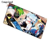 ingrosso trasporto del rilievo del mouse-Tappetino per il mouse Anime Hatsune Miku di Congsipad Shop personalizzabile, tappetino su misura, tappetino per mouse giapponese in Anime Anime personalizzato Spedizione gratuita
