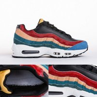 """Wholesale Cayenne Black - Best Quality 95 PRM Premium """"Multi-Color"""" Black Black-Dark Cayenne-Rio Teal 807443-003 Mens Running Shoes 95s Pony Hair Sports Sneakers"""