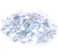 piedras de cristal para la ropa al por mayor-Cristales del brillo blanco ópalo A ++ Grado de vidrio Calidad Strass Hotfix Piedras Rh Rhinestestones Para la ropa de la ropa Accesorio con Alemania pegamento