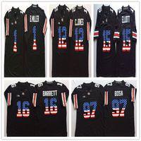 Wholesale flag football jerseys - 15 Elliott #97 Joey Bosa #12 C.JONES #16 BARRETT #1 B.Miller College Football Jersey Men Flag Ohio State Buckeyes Black Jerseys