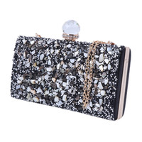 vendas de bolsas de strass venda por atacado-Moda Noite Clutch Bag Womens Rhinestone Embreagem Bolsa Elegante Nupcial Prom Bolsa Venda Quente