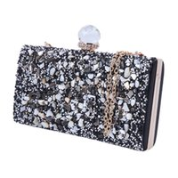 gold prom handtaschen großhandel-Mode Abend Clutch Bag Womens Strass Clutch Geldbörse elegante Braut Prom Handtasche heißer Verkauf