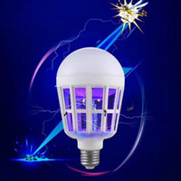 Wholesale Insect Kill - Mosquito Killer LED Bulb 220V 15W LED Bug Zapper Lamp E27 Insect Mosquito Repeller Night Lighting Killing Fly Bug Night Light Q0327