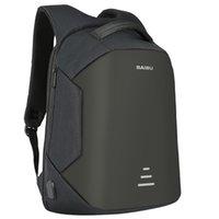 kadın için dizüstü bilgisayar çantası toptan satış-BAIBU YENI Erkekler 15.6 Laptop Sırt Çantası Anti Hırsızlık Sırt Çantası Usb Şarj Kadınlar Okul Notebook Çantası Oxford Su Geçirmez Seyahat Sırt Çantası
