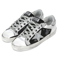 Wholesale british sneakers - Italy Brand Shoes Genuine Leather Super Star Sneakers In Leather With Leather Star British