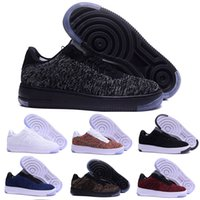 Wholesale Canvas Lines - 2018 new style fly line Men Women High low lover Skateboard Shoes 1 One knit Eur size 40-45 mesh