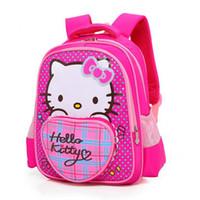 bonitas mochilas para chicas al por mayor-Nueva Moda Niños Mochila Hello Kitty Bolsas de la escuela Libro Mochilas Princesa Bolsos Niñas Encantadores Niños Bastante Mochila
